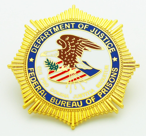 Bureau of Prisons Mini Badge refrigerator magnet