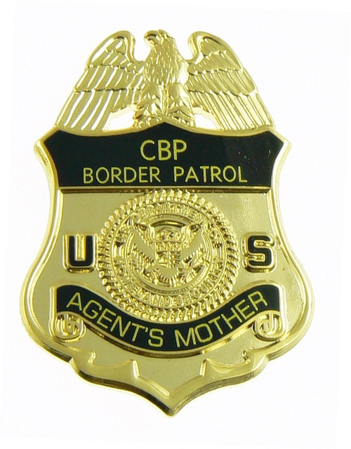 U.S. Border Patrol Agent's Mother Mini Badge Lapel Pin