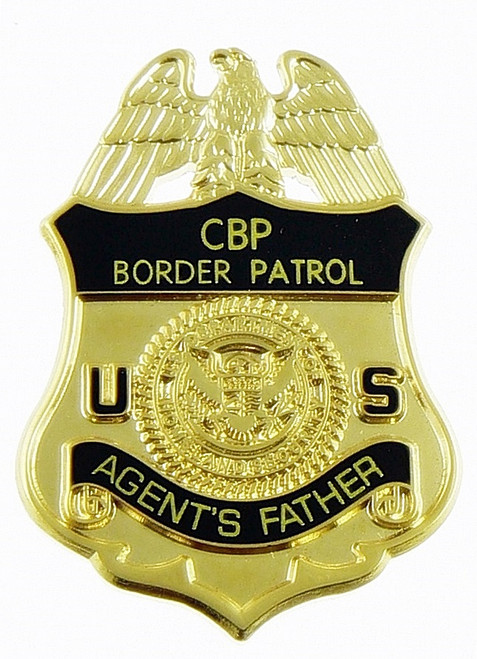 "U.S. Border Patrol ""Agent's Father"" Mini Badge Lapel Pin"