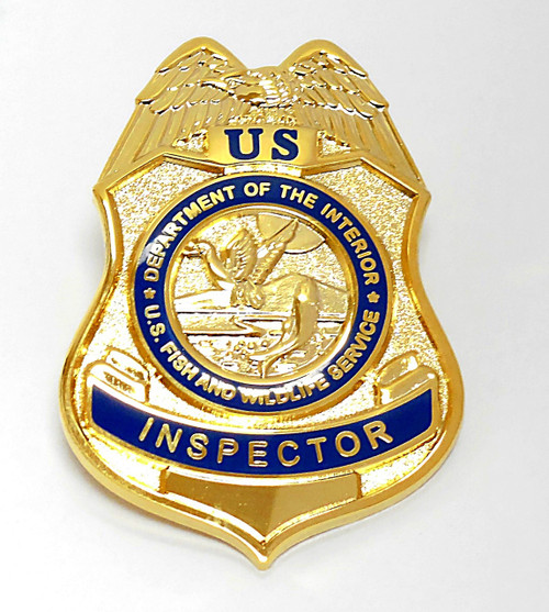 Fish and Wildlife Service Inspector Mini Badge Refrigerator Magnet