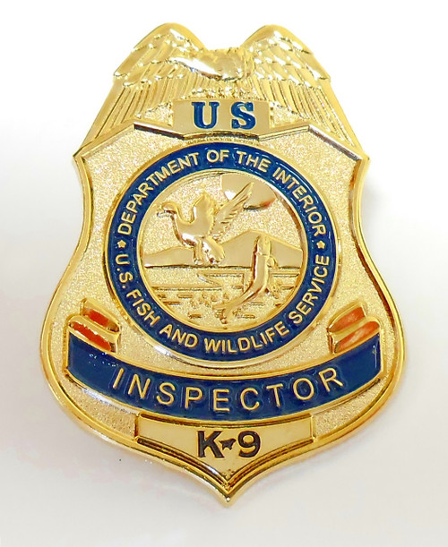Fish and Wildlife Service Inspector K-9 Mini Badge Refrigerator Magnet