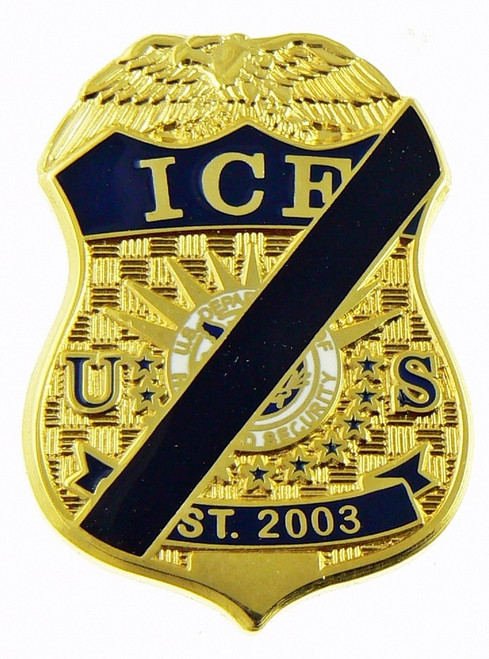 Immigration and Customs Enforcement Mini Mourning Badge Refrigerator Magnet