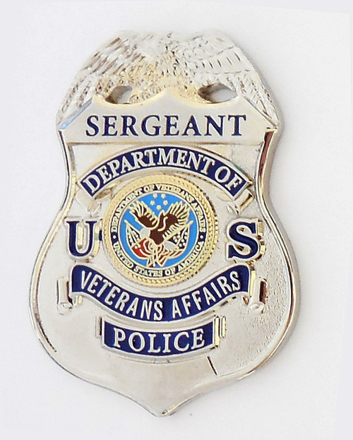 Veterans Affairs Police Sergeant Mini Badge Lapel Pin
