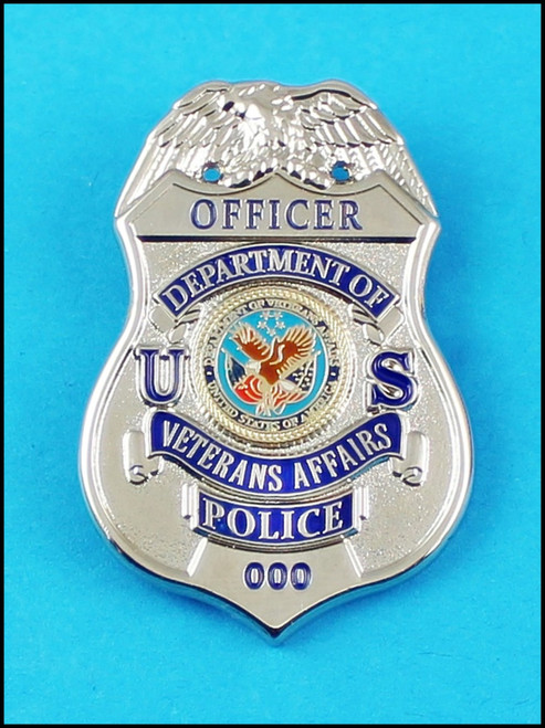 Veterans Affairs Police Officer Mini Badge Lapel Pin