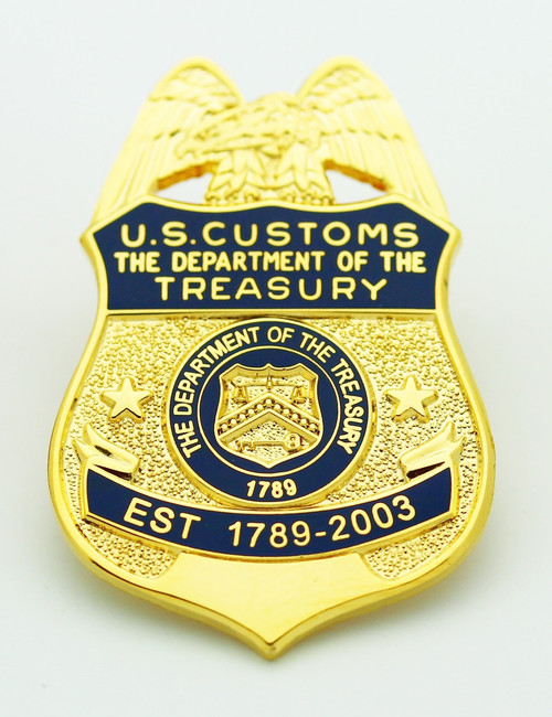 Legacy U.S. Customs Service Mini Badge Refrigerator Magnet