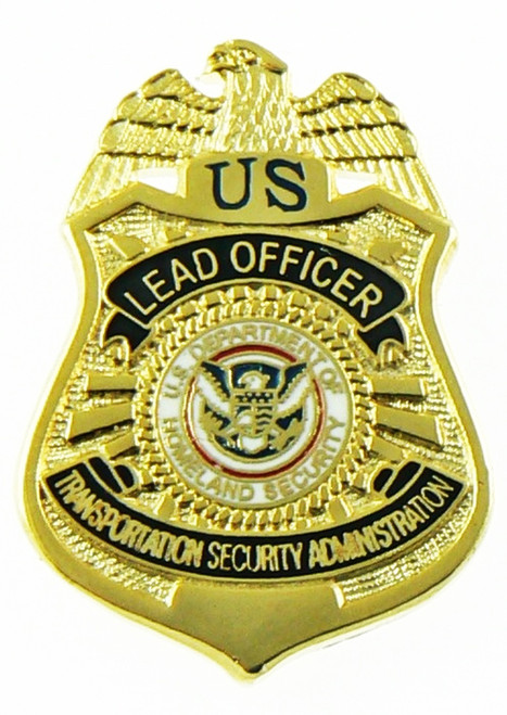 Transportation Security Administration Lead Officer Mini Badge Refrigerator Magnet