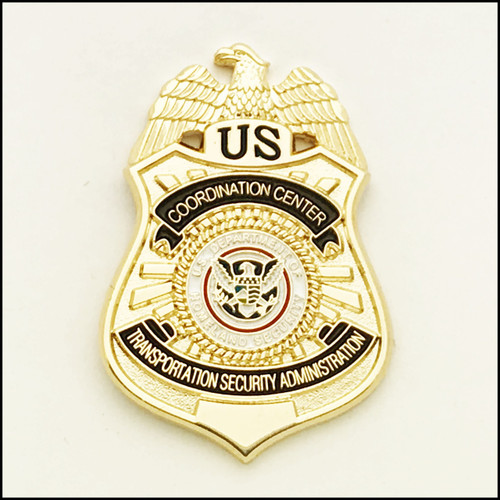 Transportation Security Administration Coordination Center Officer Mini Badge Lapel Pin