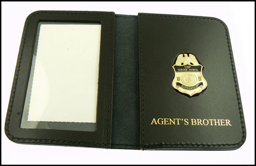 US Border Patrol Supervisor Mini Badge ID Card Holder Case with Agent's Brother Embossing