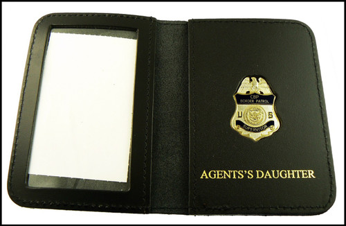 US Border Patrol Supervisor Mini Badge ID Card Holder Case with Agent's Daughter Embossing