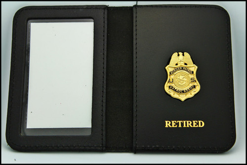Legacy US Border Patrol Agent Mini Badge ID Card Holder Case with Retired Embossing