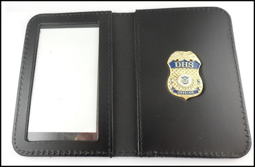 Department of Homeland Security ID Case w/ Officer Badge - No Embossing