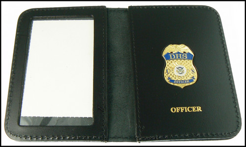 Embossed Department of Homeland Security Officer Mini Badge ID Wallet
