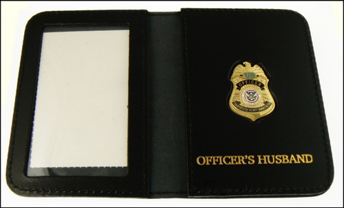 TSA Officer Mini Badge ID Case w/Officers Husband Embossing