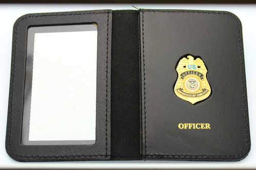 Transportation Security Administration Officer Mini Badge ID Wallet w/Officer Embossing