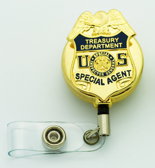 Treasury Department Special Inspector General Special Agent Badge ID Reel - Gold