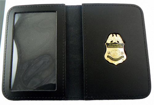 Embossed Air and Marine Operations Marine Agent Mini Badge ID Wallet