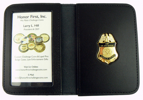Air and Marine Operations Agent's Father Mini Badge Leather ID Wallet