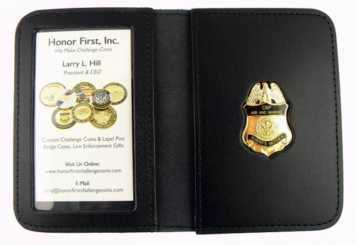 Air and Marine Operations Agent's Mother Mini Badge Leather ID Wallet