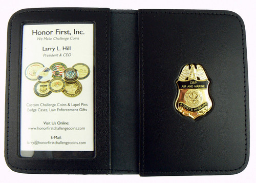 Air and Marine Operations Agent's Husband Mini Badge Leather ID Wallet