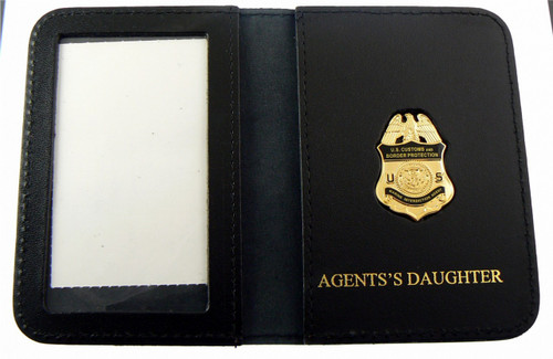 "AMO Marine Interdiction Agent Mini Badge w/ ""Agent's Daughter"" Embossed Wallet"