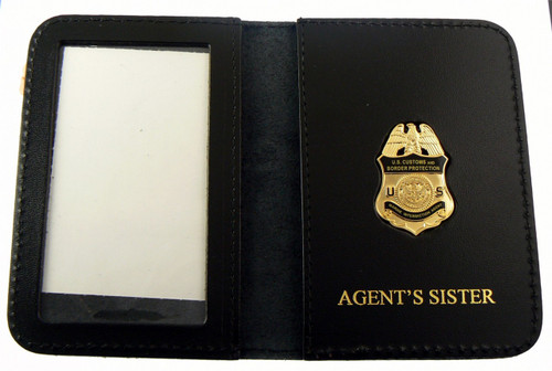 "AMO Marine Interdiction Agent Mini Badge with ""Agent's Sister"" Embossed Wallet"