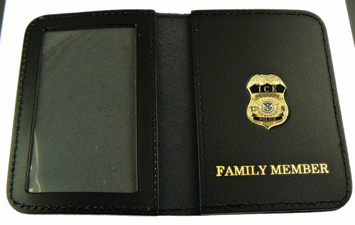 "ICE Federal Protective Service Police 1.25"" Mini Badge ID Wallet / Family Member"