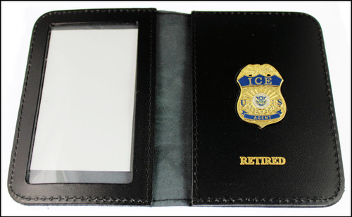 Immigration and Customs Enforcement Agent Mini Badge ID Wallet with Retired Embossing