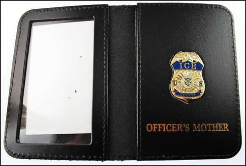 Immigration and Customs Enforcement Officer Mini Badge ID Wallet with Officer's Mother Embossing