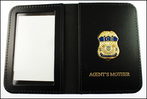 Immigration and Customs Enforcement Special Agent Mini Badge ID Wallet with Agent's Mother Embossing