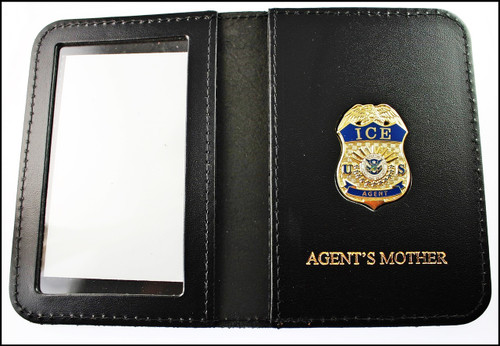 Immigration and Customs Enforcement Agent Mini Badge ID Wallet with Agent's Mother Embossing