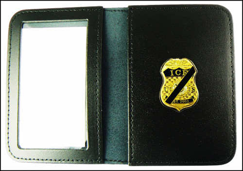 Immigration and Customs Enforcement Mini Mourning Badge ID Wallet