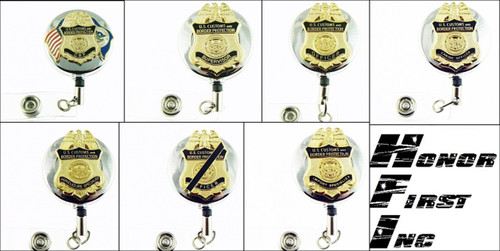 Chrome Customs and Border Protection Mini Badge ID Reels