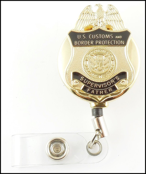 Customs and Border Protection Supervisor's Father Mini Badge ID Holders/ID Reels