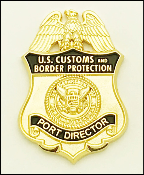 Customs and Border Protection Port Director Mini Badge Lapel Pin