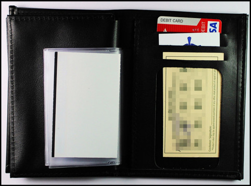 Badge and Credential Wallet Credit Card Slots and Picture Pages