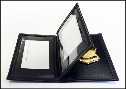 Customs and Border Protection Badge and Credential Case Interior View