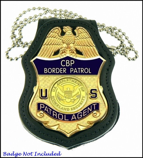 US Border Patrol Badge Shaped Badge Holder
