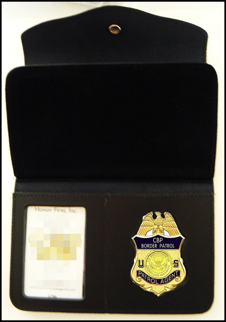 US Border Patrol Women's Badge and ID Wallet - Badge and ID View