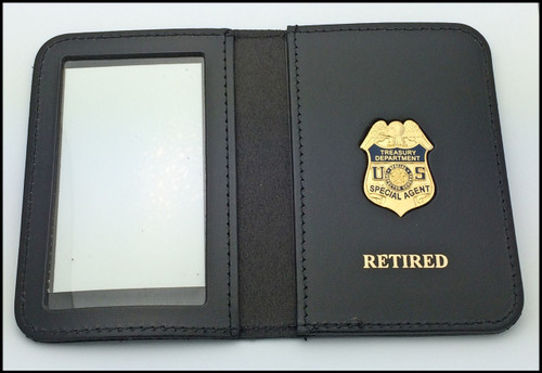 US Treasury Dept. SIG Special Agent Mini Badge ID Card Holder Case with Retired Embossing