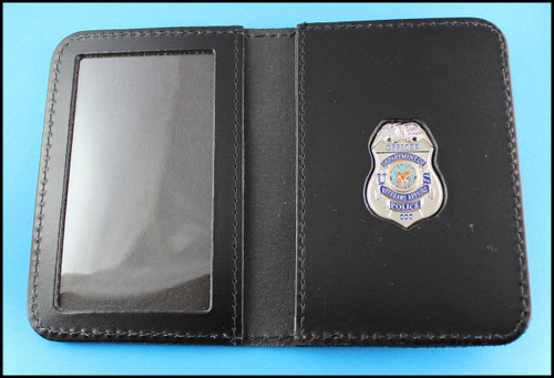 Dept. of Veterans Affairs Police Officer Mini Badge ID Card Holder Case with no embossing
