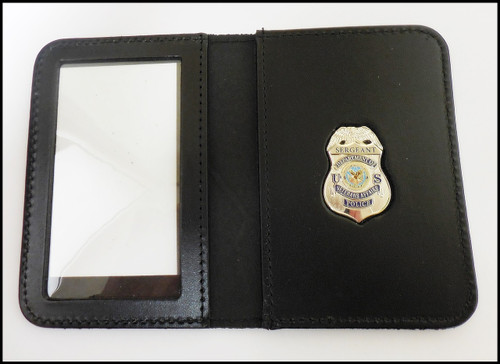 Dept. of Veterans Affairs Police Sergeant Mini Badge ID Card Holder Case with No Embossing