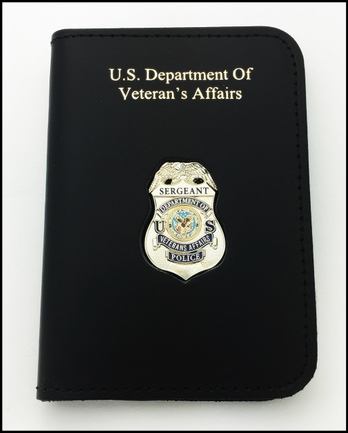 Dept. of Veterans Affairs Police Sergeant Mini Badge ID Card Holder Case with DAV embossing