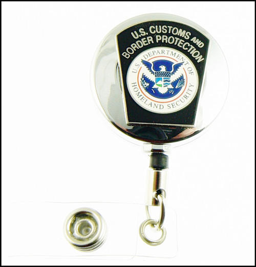 Chrome Customs and Border Protection Mini CBP Patch ID Badge Holders