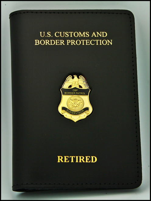 USBP Retired Credential Case with a Supervisors Mini Badge Pin