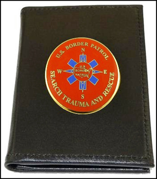 US Border Patrol Badge and Credential Case with BORSTAR Logo Medallion