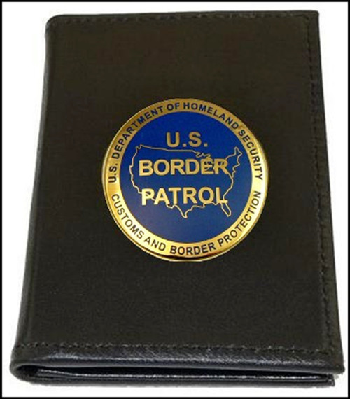 US Border Patrol Badge and Credential Case with USBP Logo Medallion