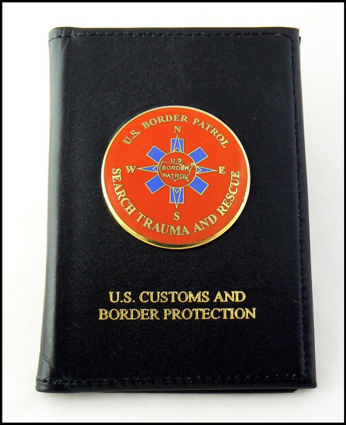 Embossed US Border Patrol Badge and Credential Case with an USBP BORSTAR  Medallion