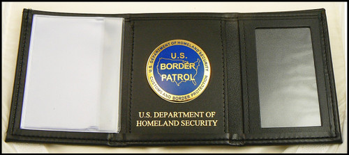 US Border Patrol Tri-Fold Wallet with DHS Embossing