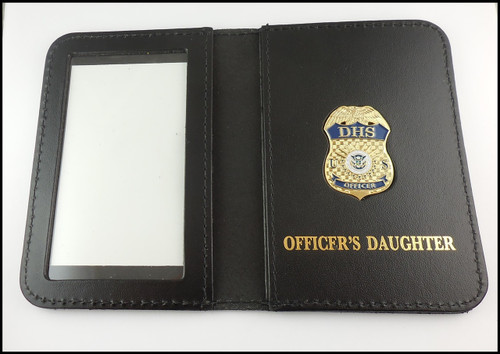 Department of Homeland Security Officer's Daughter Mini Badge ID Card Case