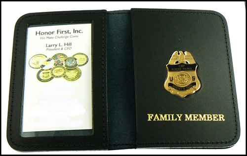 US Border Patrol Agent's Son Mini Badge ID Card Holder Case